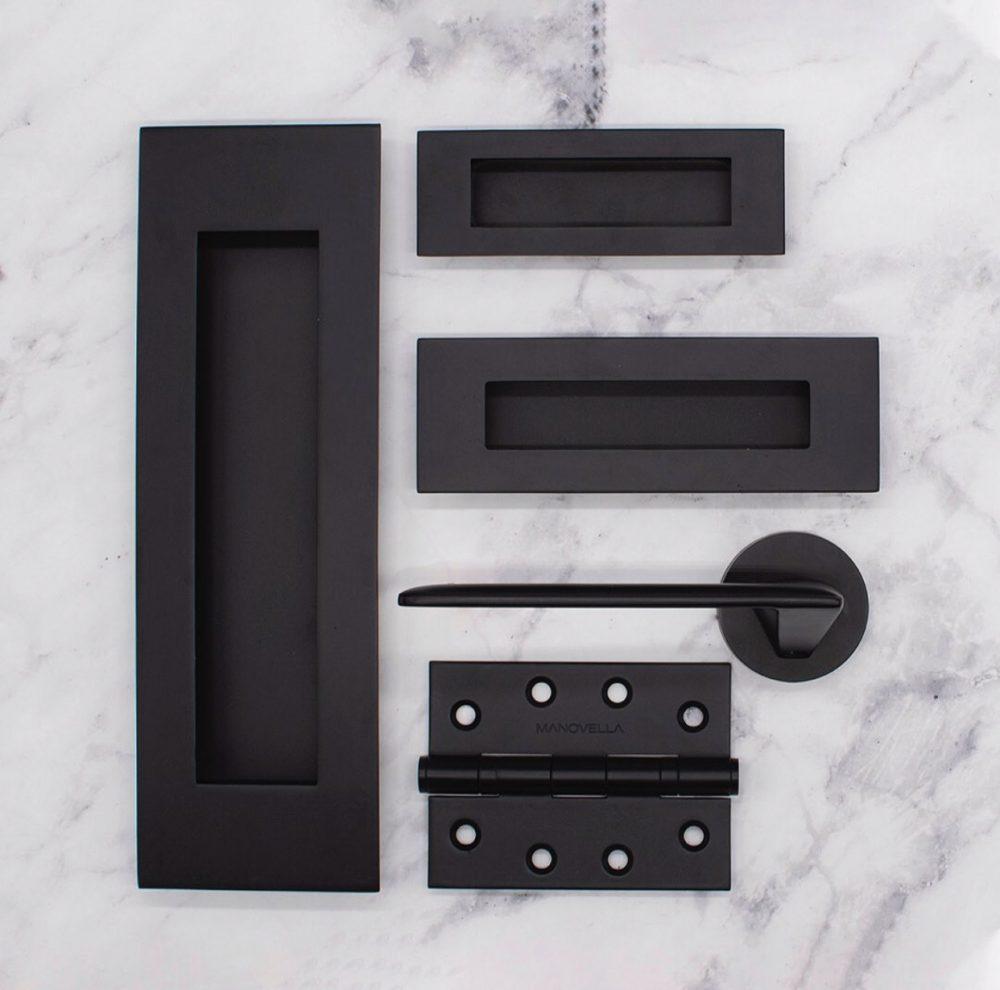 Matt black door range