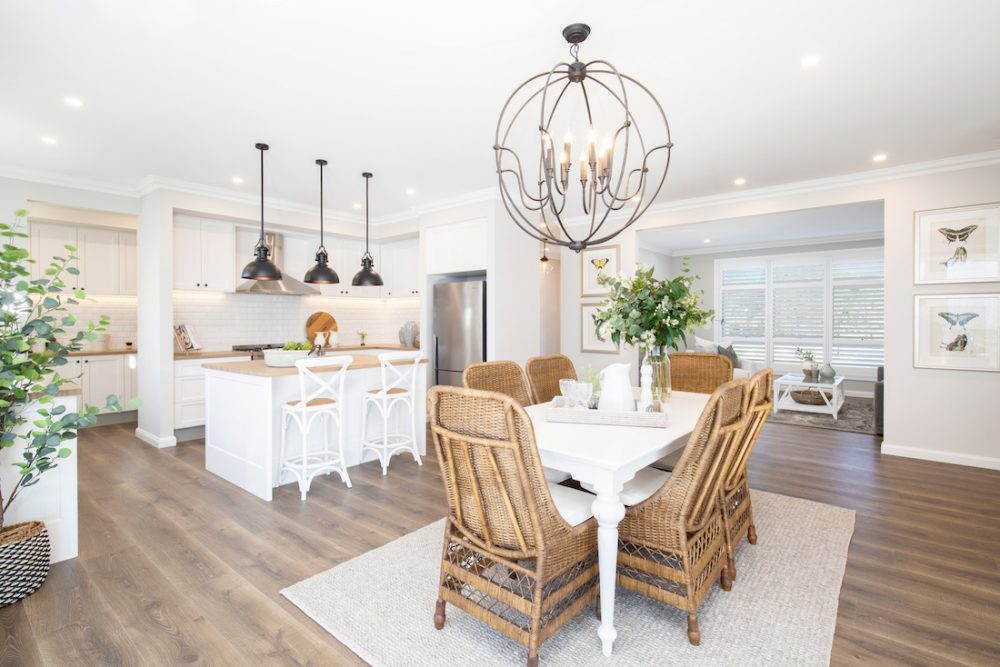 Hamptons style kitchen dining space