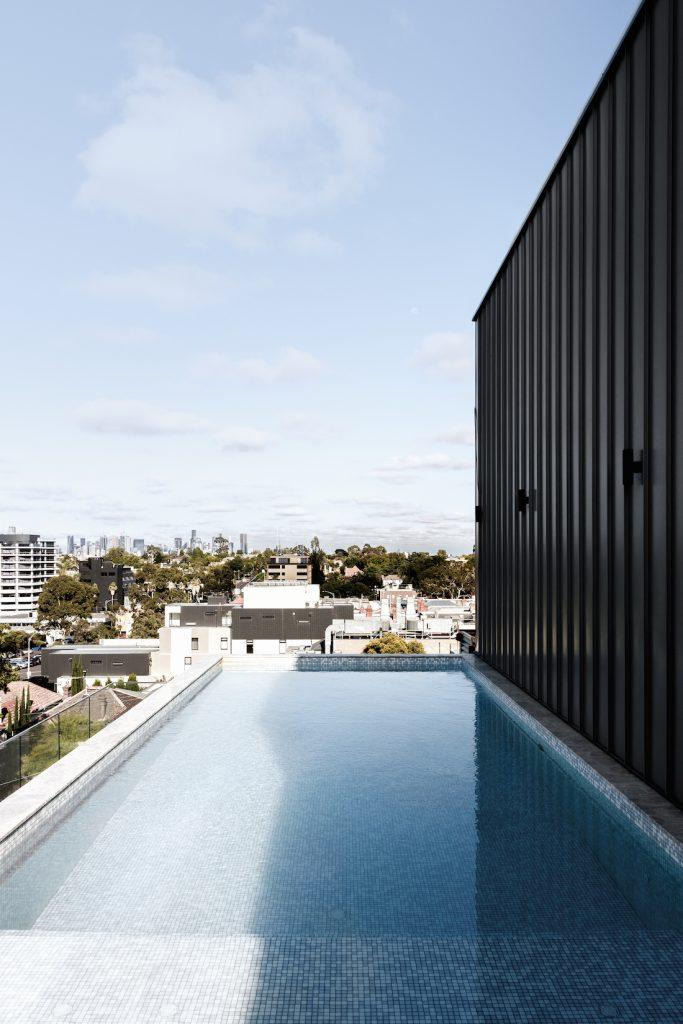 Penthouse pool in Kew