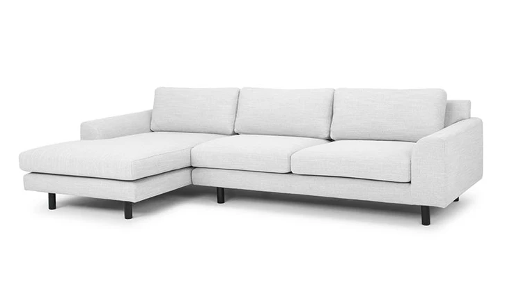 3 seater left chaise fabric sofa