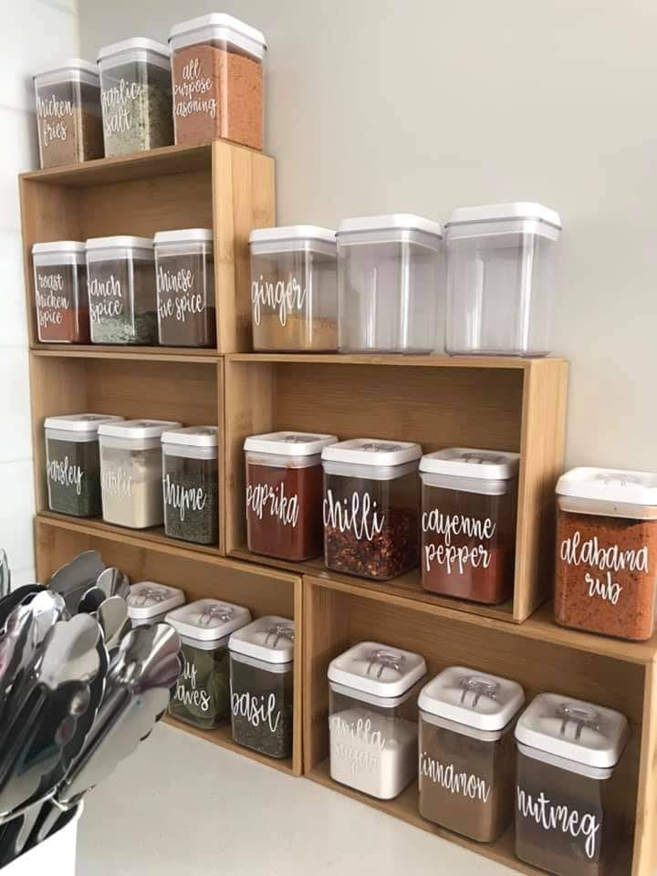 Spice rack storage