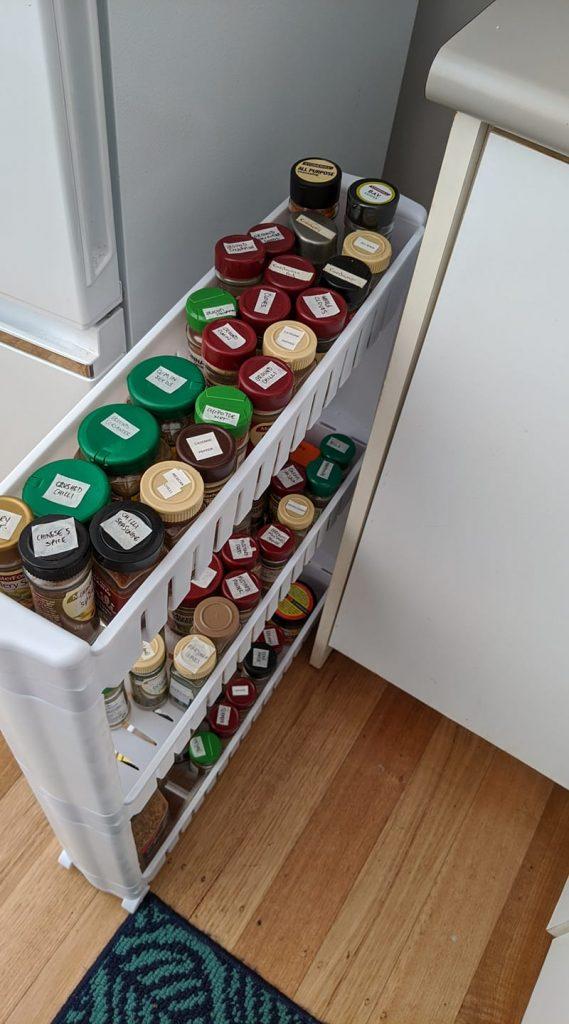 Spice rack trolley