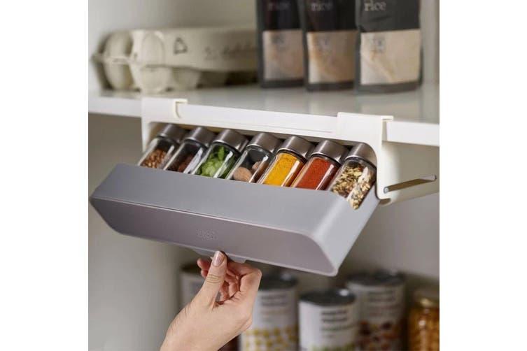 Under shelf storage for spices