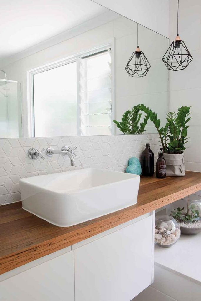 Zanzibar gem in white bathroom