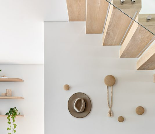 Seating space under staircase