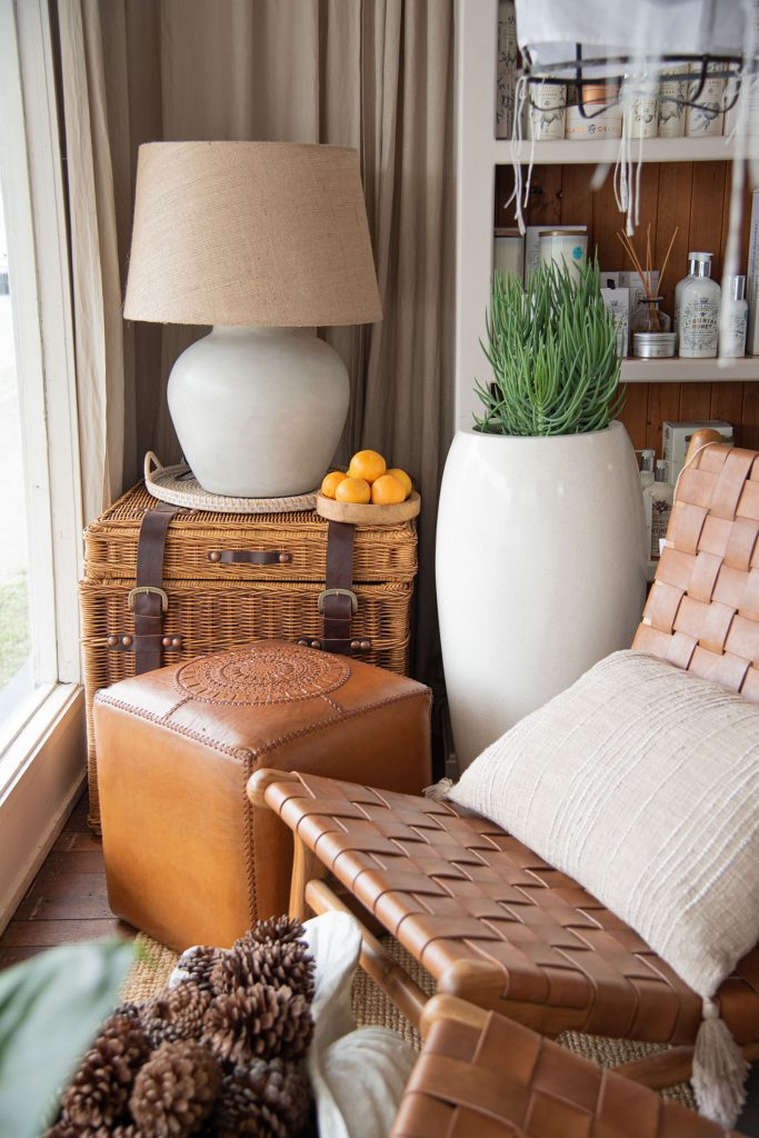 Collection of farm style furniture and homeswares