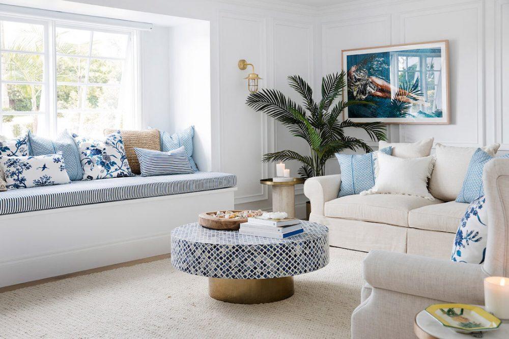 Hamptons style living room