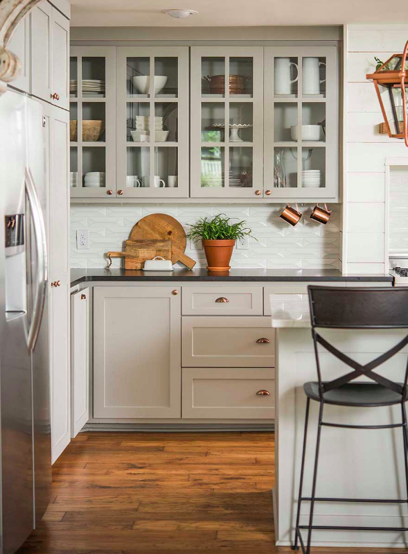 Country style kitchen with shaker cabinetry