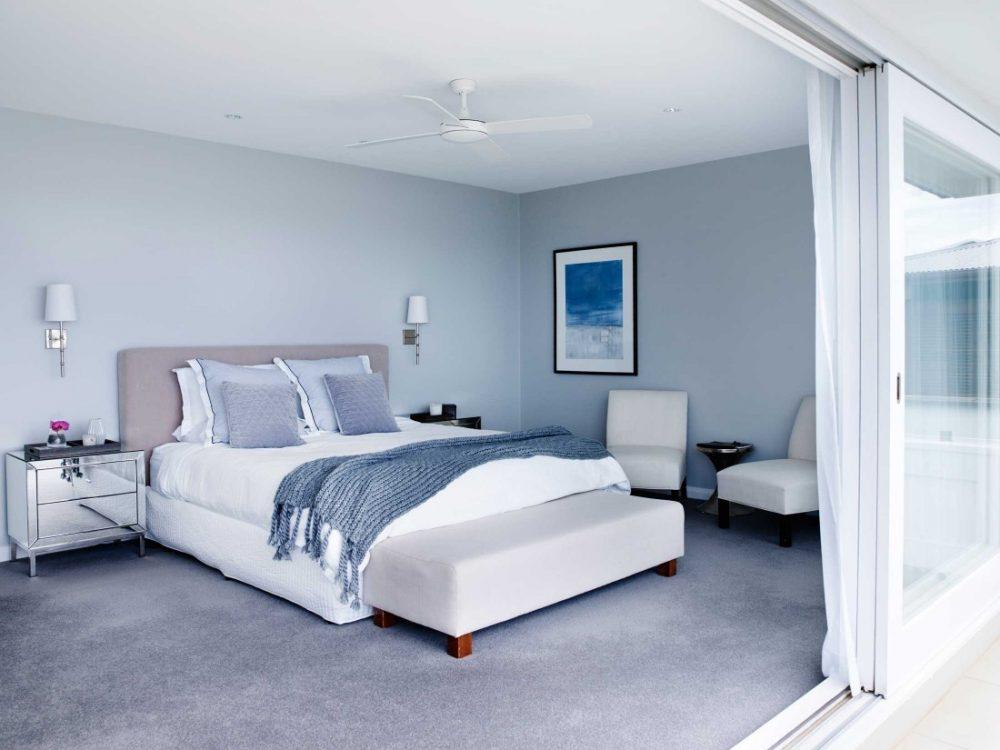 Coastal Hamptons home master bedroom