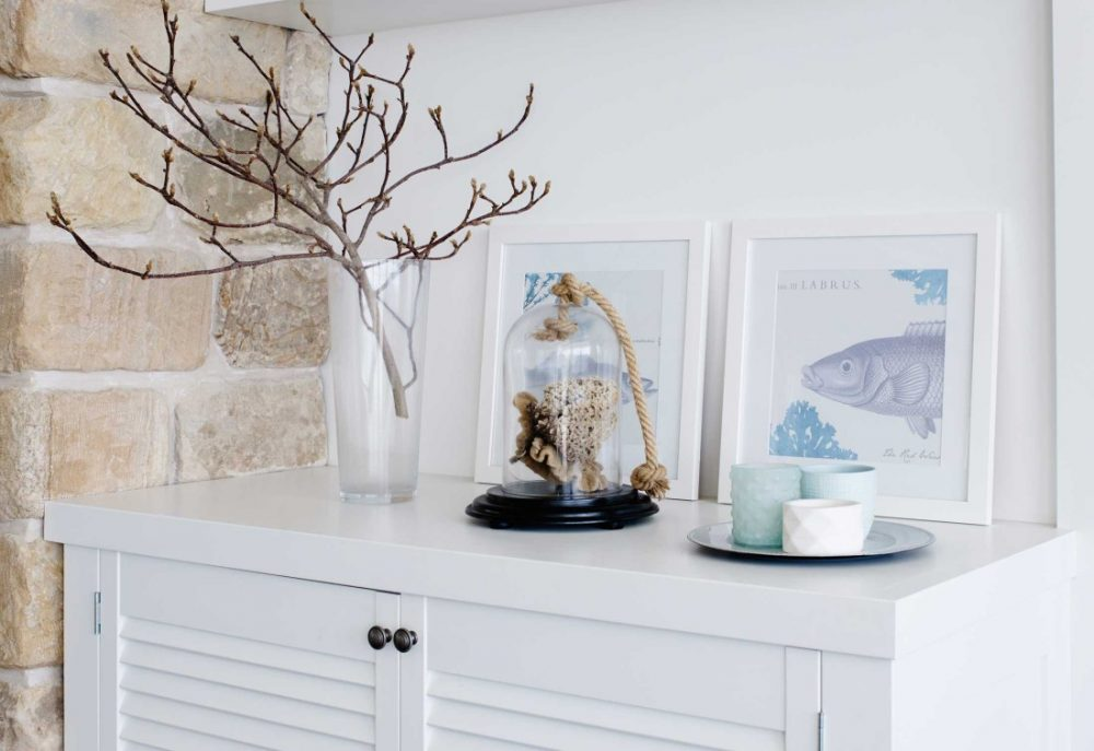 Coastal Hamptons home decor details