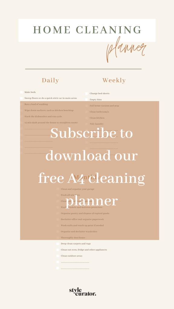 Free cleaning planner