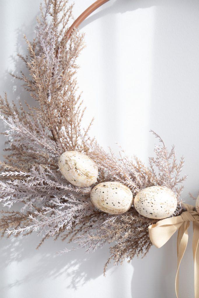 Close up of wreath