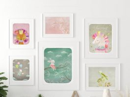 Dreams and Clouds collection of children's bedroom art