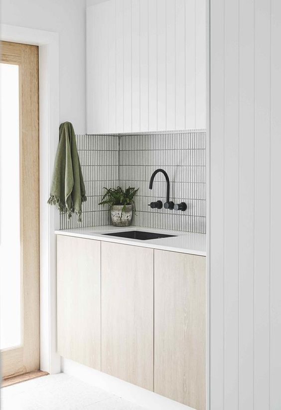 White laundry with minimal styling