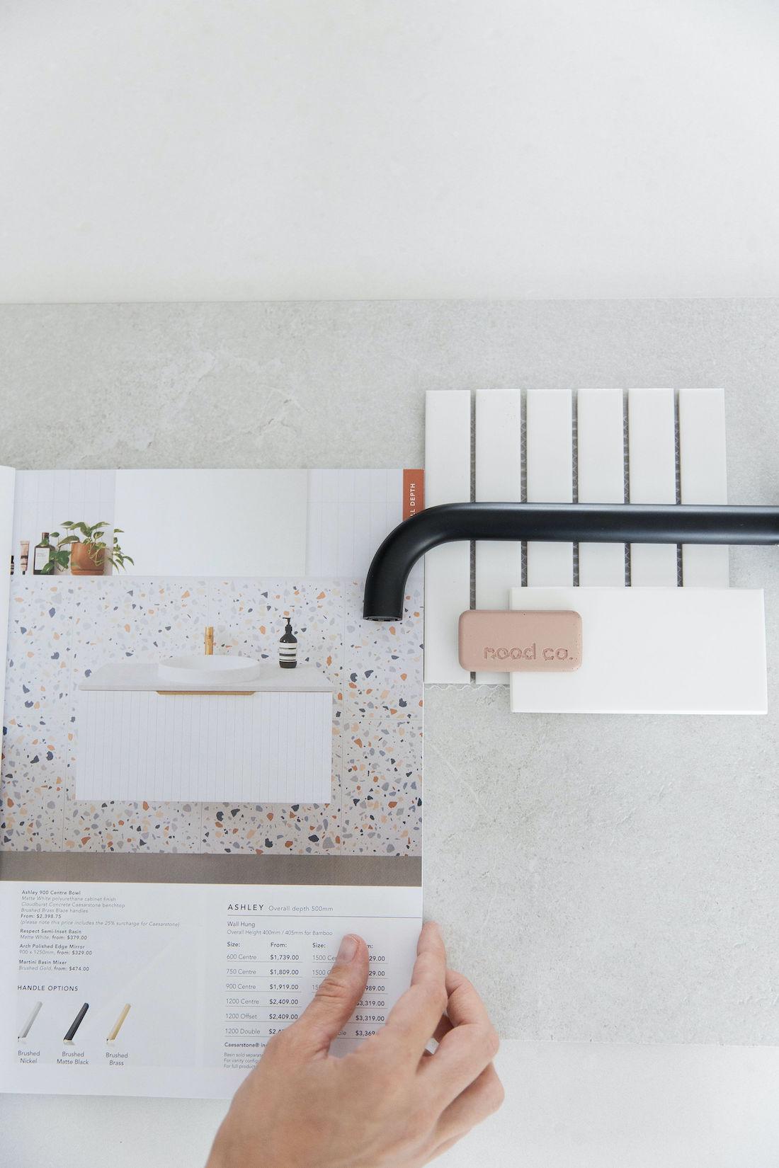 Mood board to plan Bathroom renovation