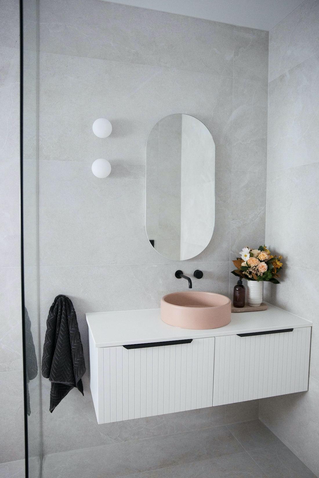 New v-groove vanity