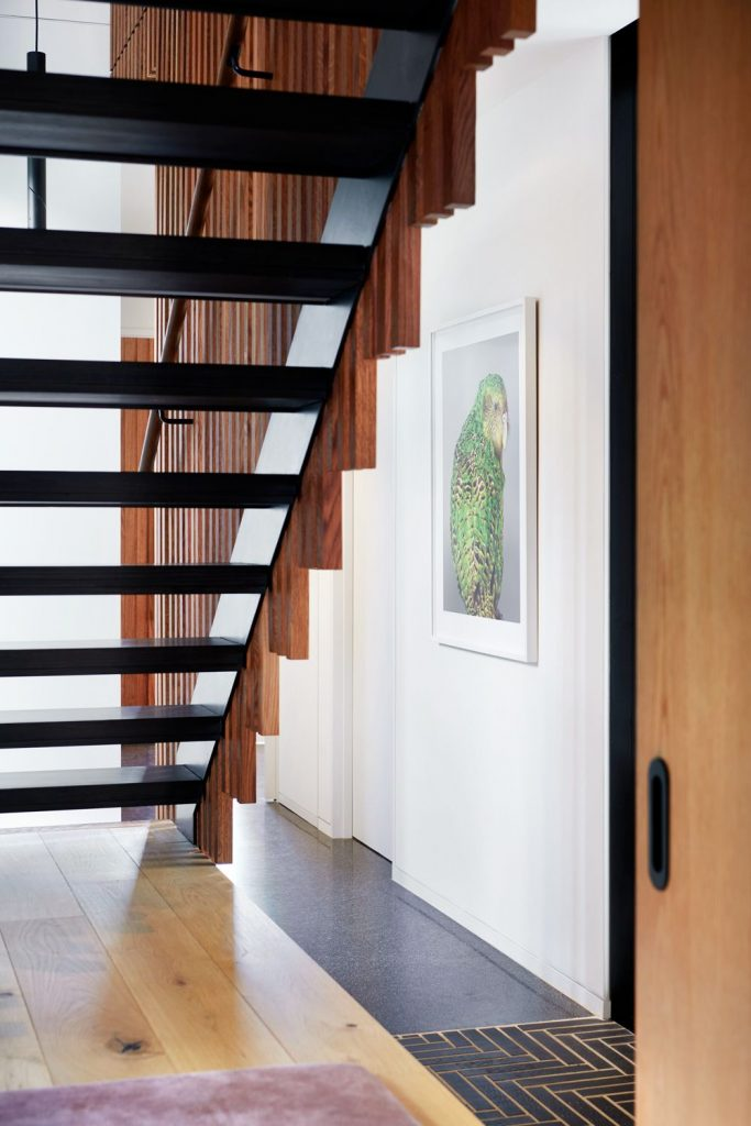 Open-tread staircase of the Maxwell house