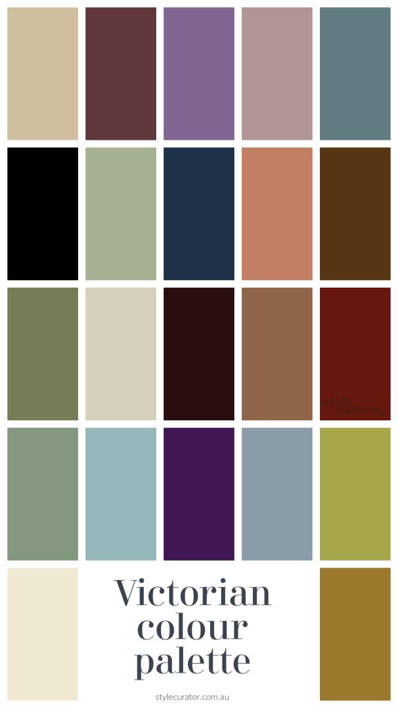 Victorian colour palette