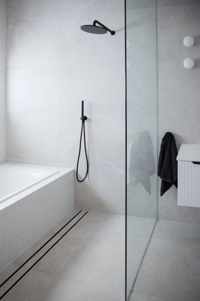 Walk in shower in Bathroom renovation