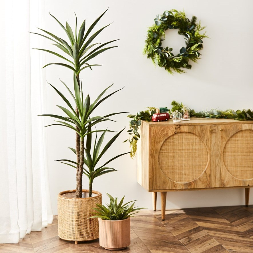 Collection of fake plants