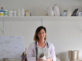 Alice Bell ceramic artist in studio
