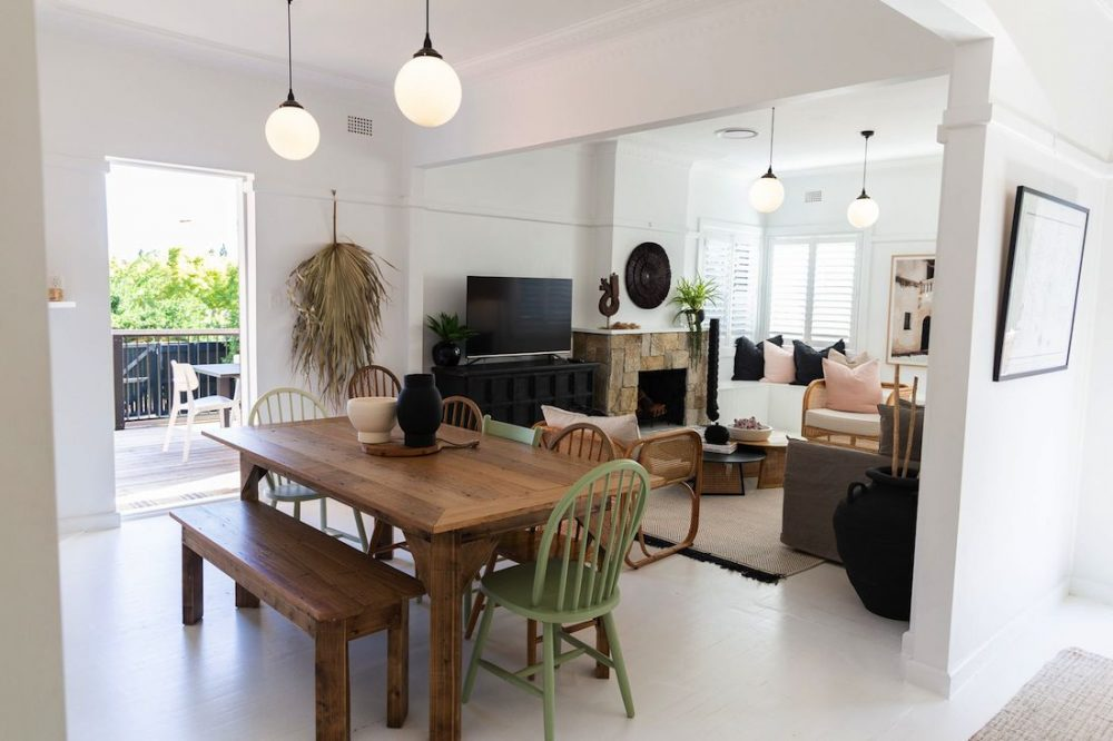 Dining and living room at Casey Street in Orange