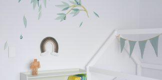 DIY rainbow wall hanging