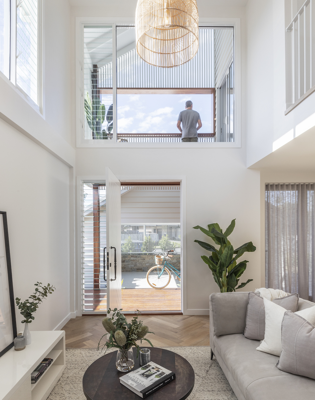 Light filled void in small townhouse