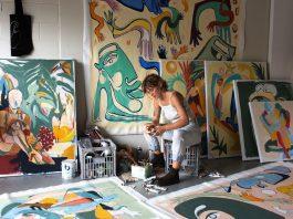 Kate Florence Art_at work