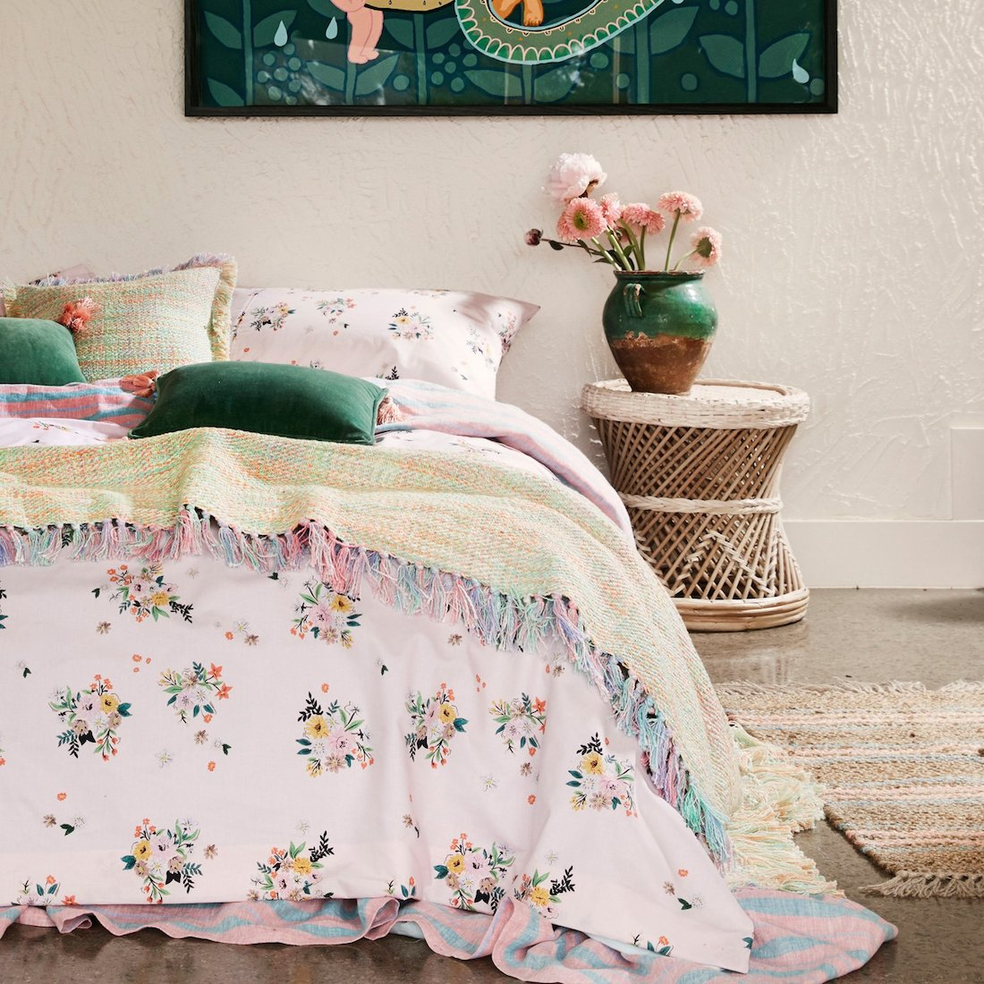 Colourful bedding from Kip and Co