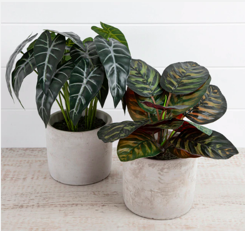 Small faux plants