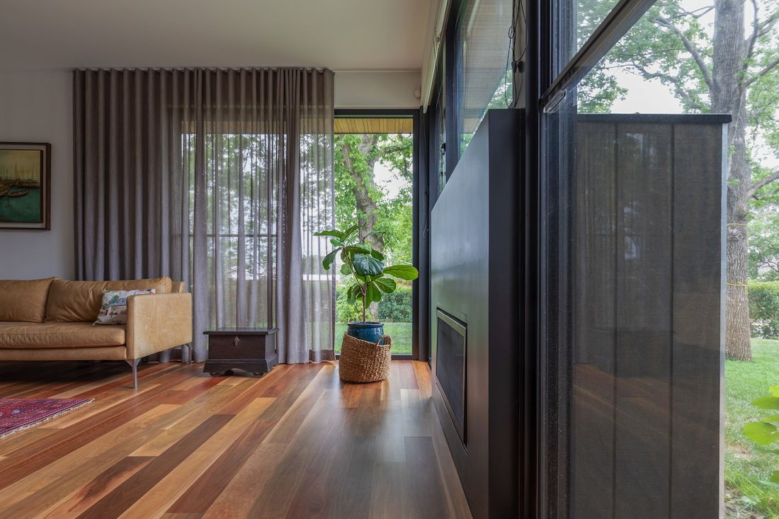 Living room inside Ribbon House