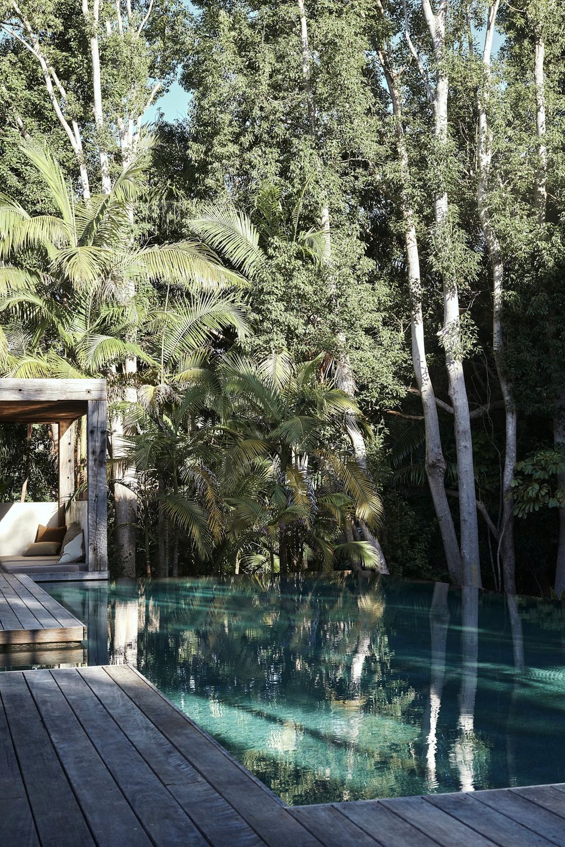 Pool with rainforest outlook