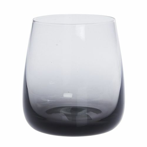 Black smoke glass tumbler Freedom
