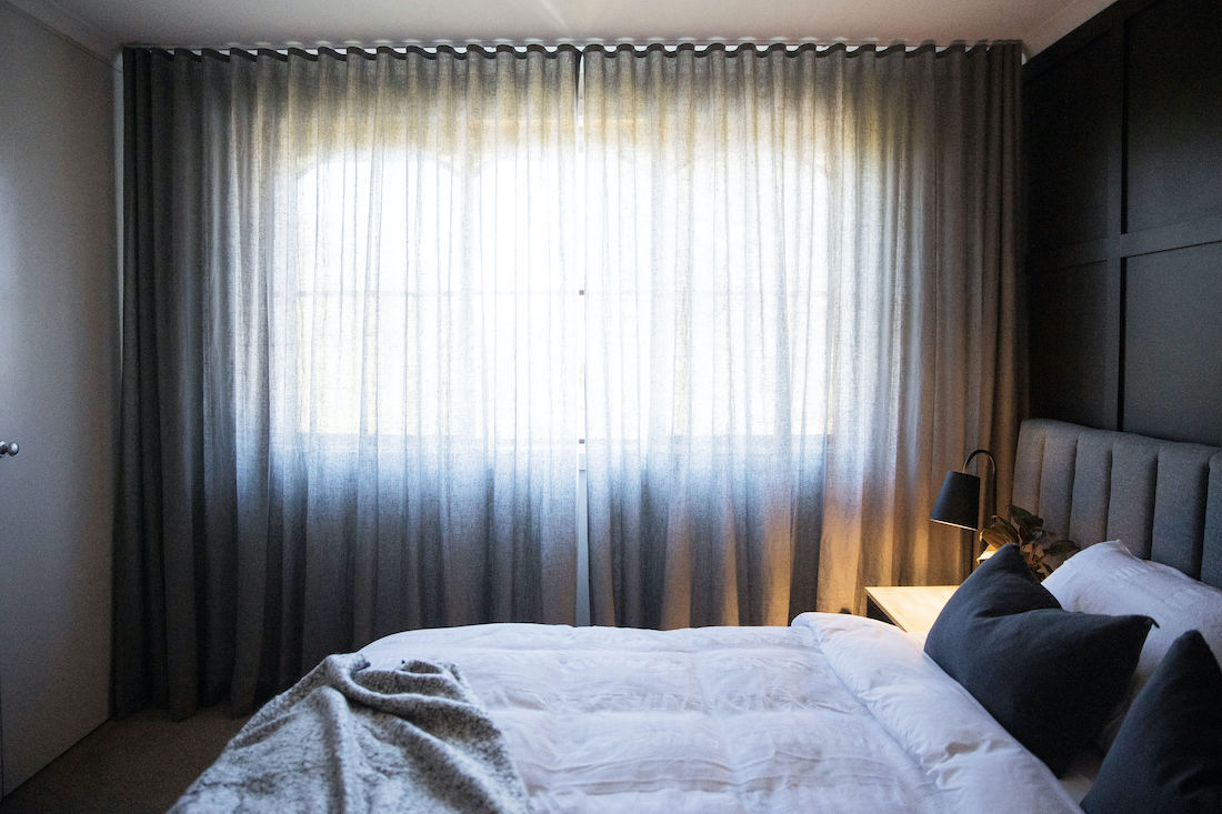 Sheer curtains from DIY Blinds