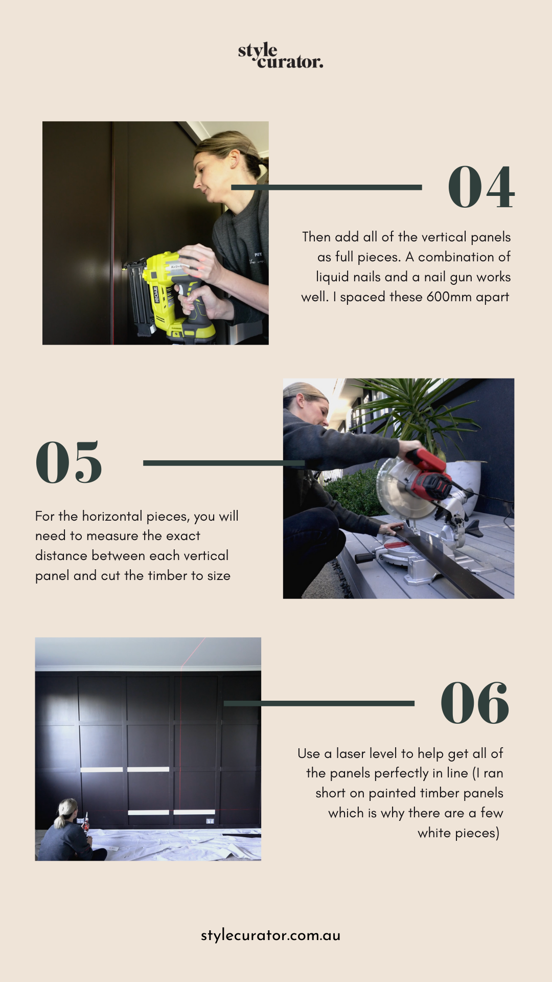 DIY square panel feature wall 2