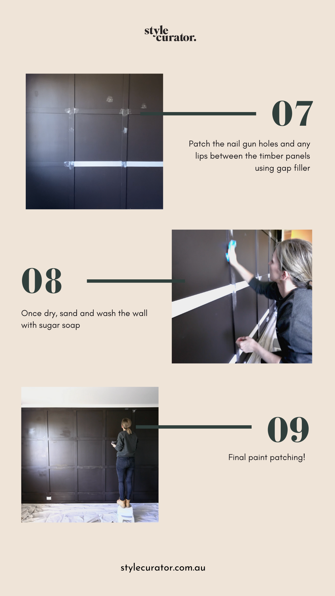 DIY square panel feature wall 3