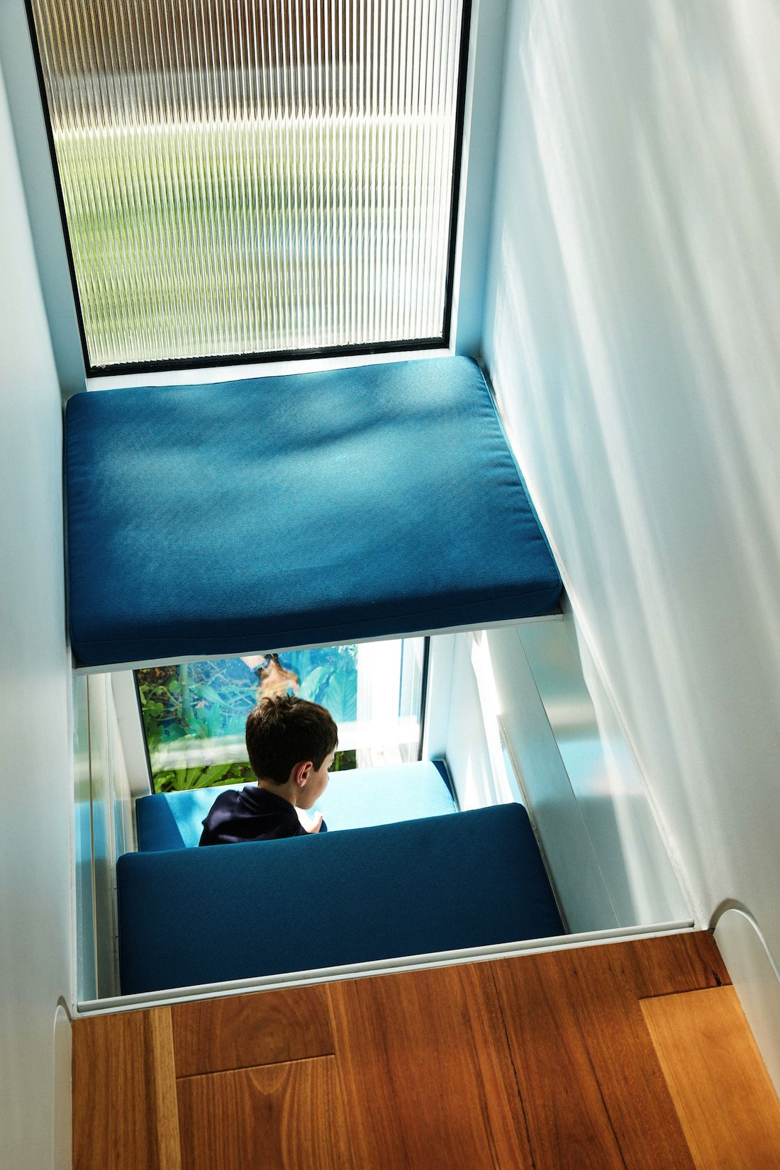 Cubby spot for kids over void