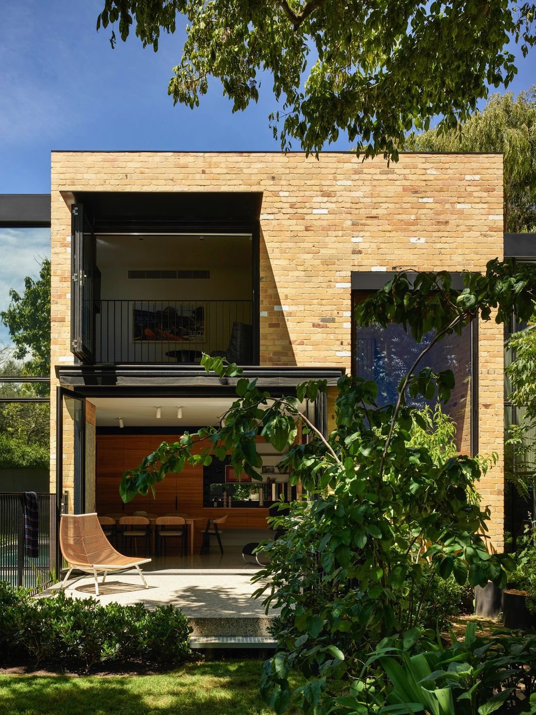 Recycled yellow brick exterior of Garden House