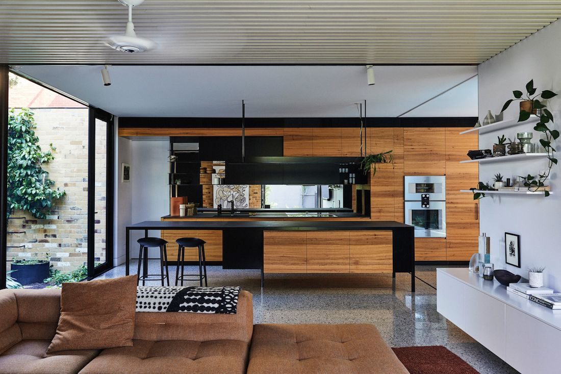 Open concept living and kitchen space