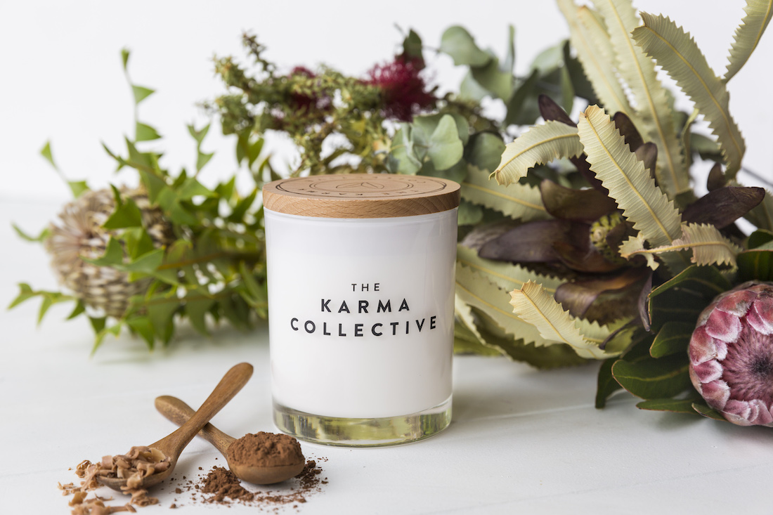 Karma Collective winter candle