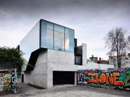 Fitzroy Lane exterior with graffiti walls