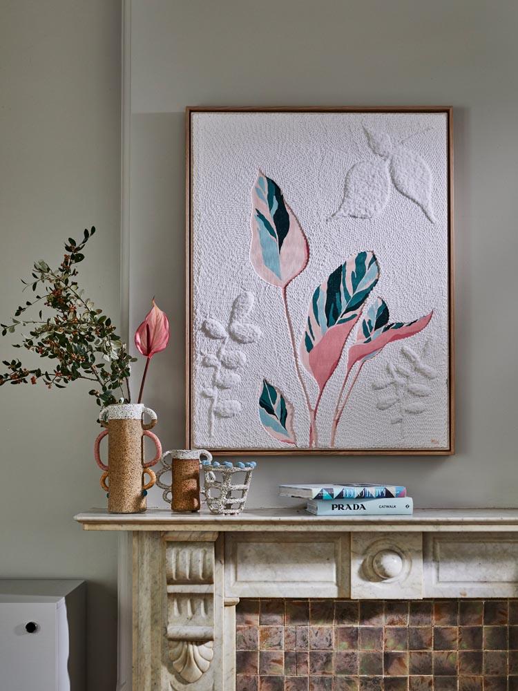 Botanical tapestry art but Monica Henry