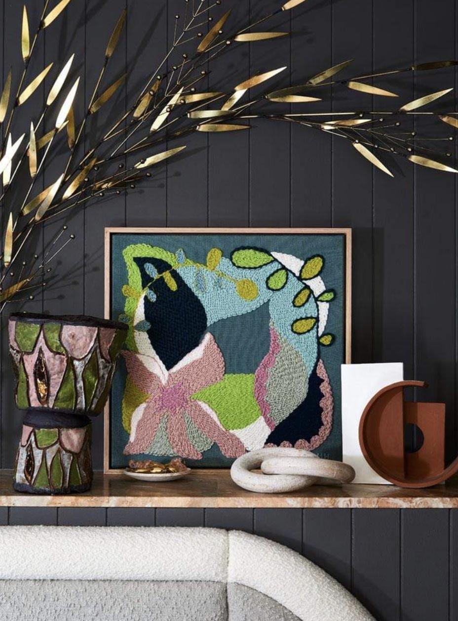 Botanical tapestry art by Monica Henry