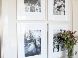 Popic black and white gallery wall