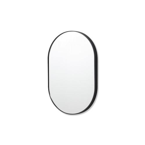 Small oval mirror in black
