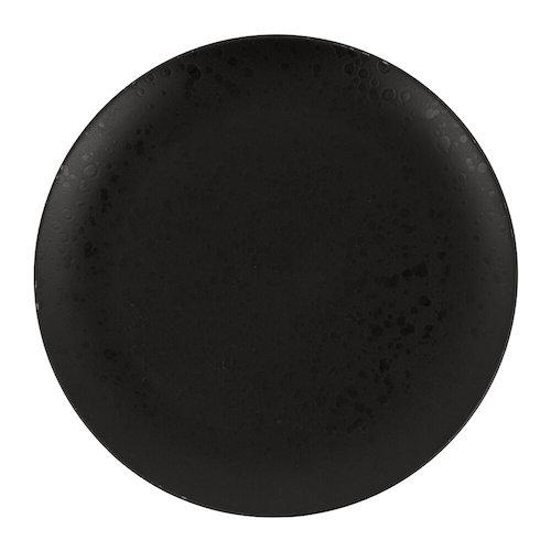 Black speckled dinner plate