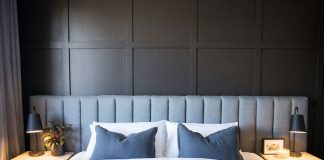 Square panel feature wall