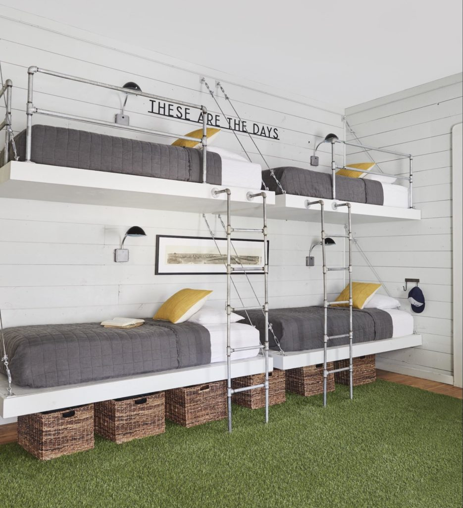Built-in industrial style bunkbeds