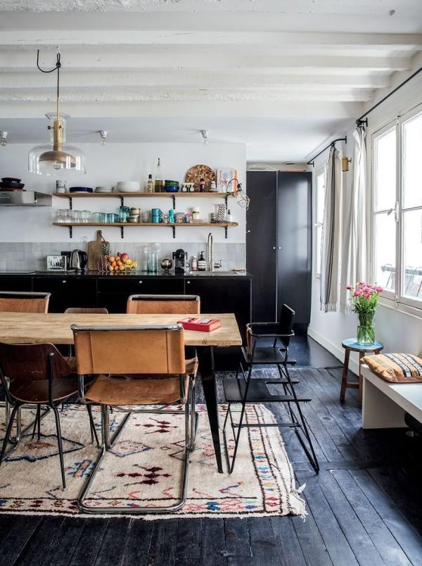 Boho rustic wood floors